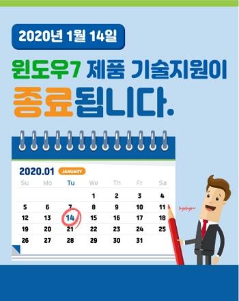 2020년1월14일 윈도우7 제품 기술지원이 종료됩니다.
